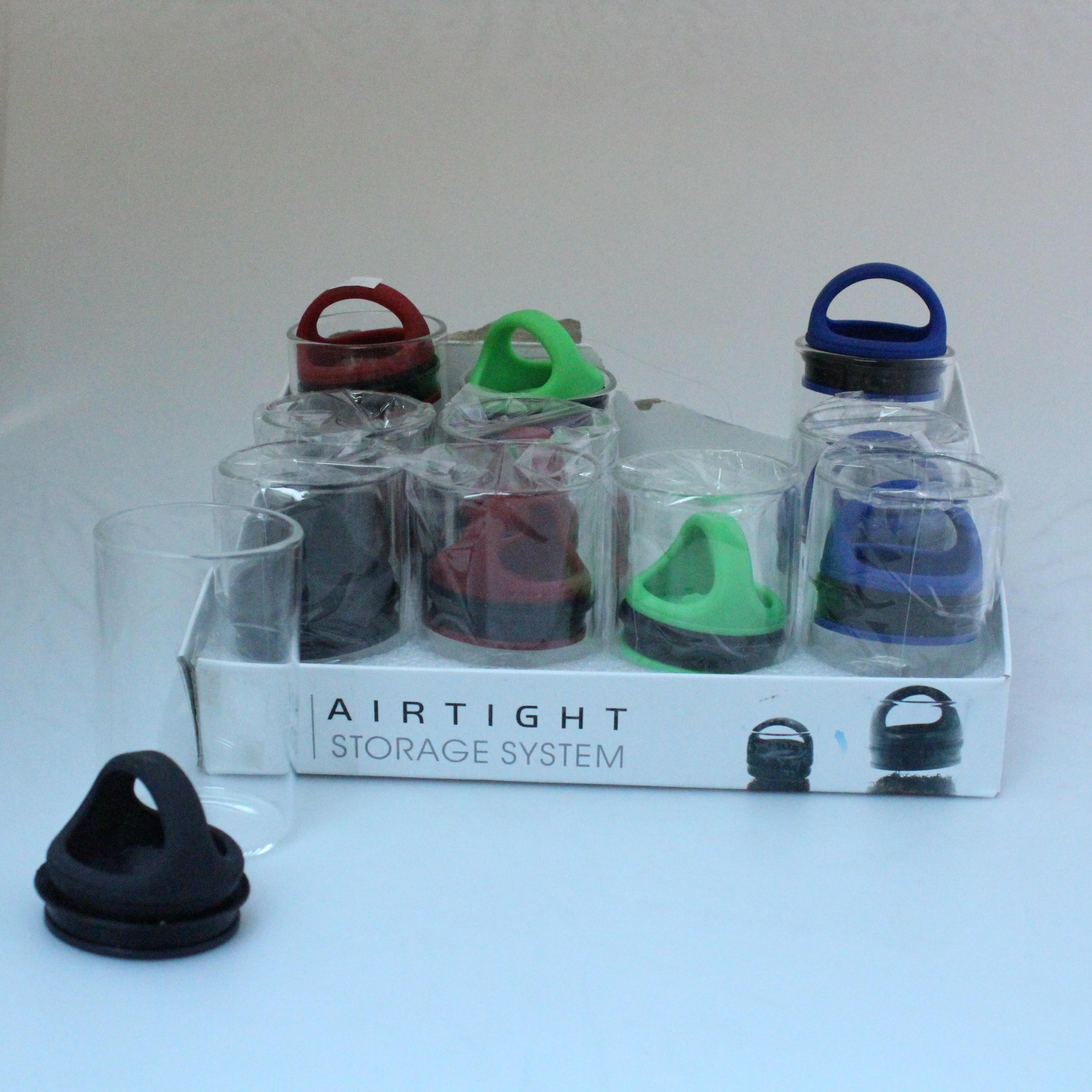 air tight glass jar 12 per pack. Black Bedroom Furniture Sets. Home Design Ideas